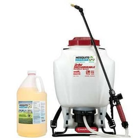 Battery Backpack Sprayer - 1 Gal Mosquito Repellent Combo